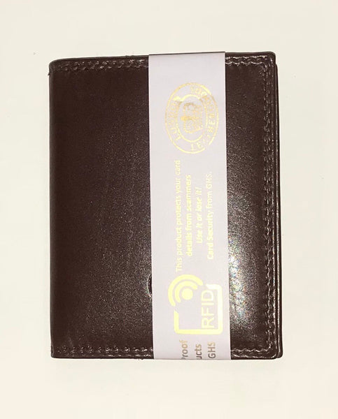 Smooth Finish RFID Protected Leather Card Holder