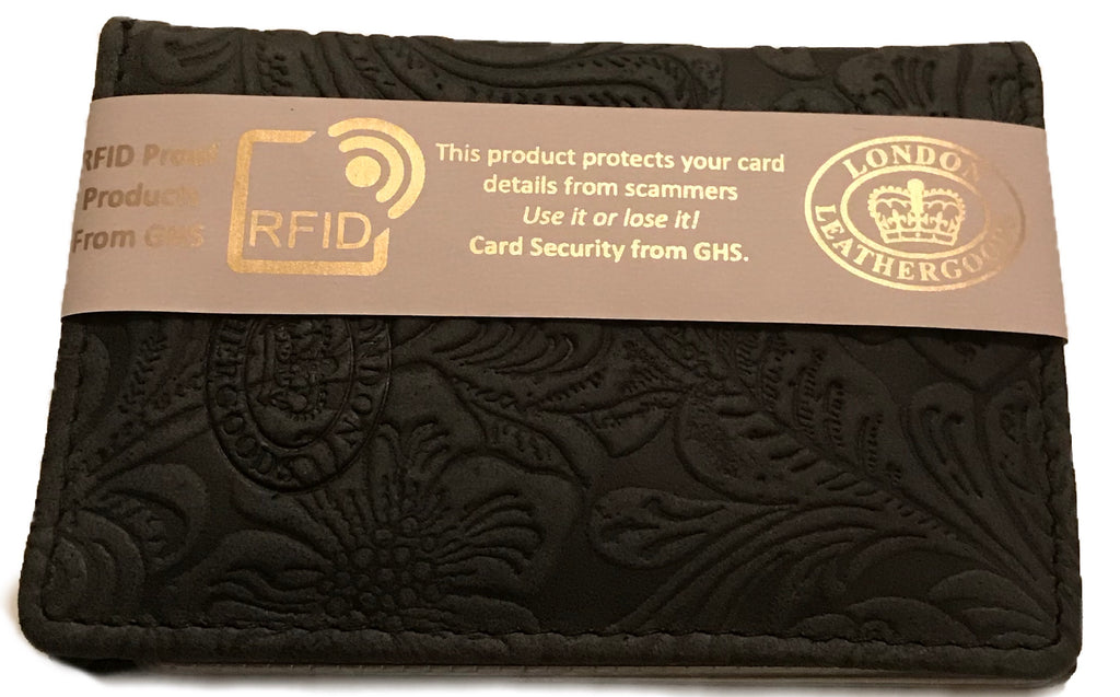 Ladies RFID Protected Embossed Card Holder