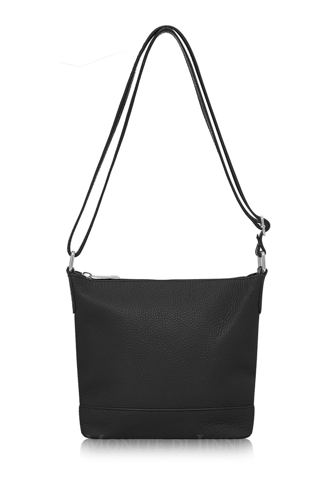 Ladies Grained Leather Crossbody Bag