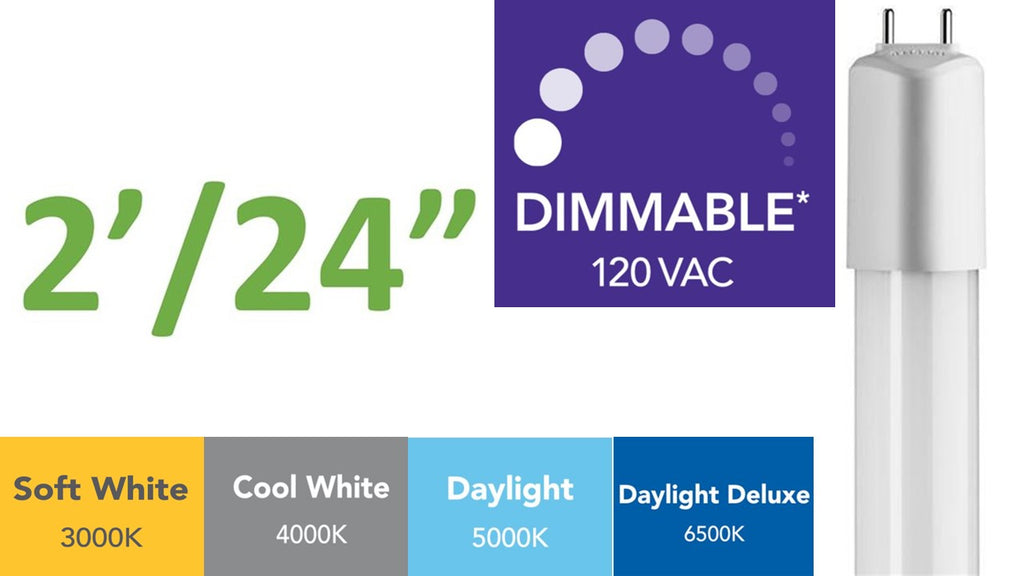 2 ft. (Dimmable) Direct-wire LED Tube(s)