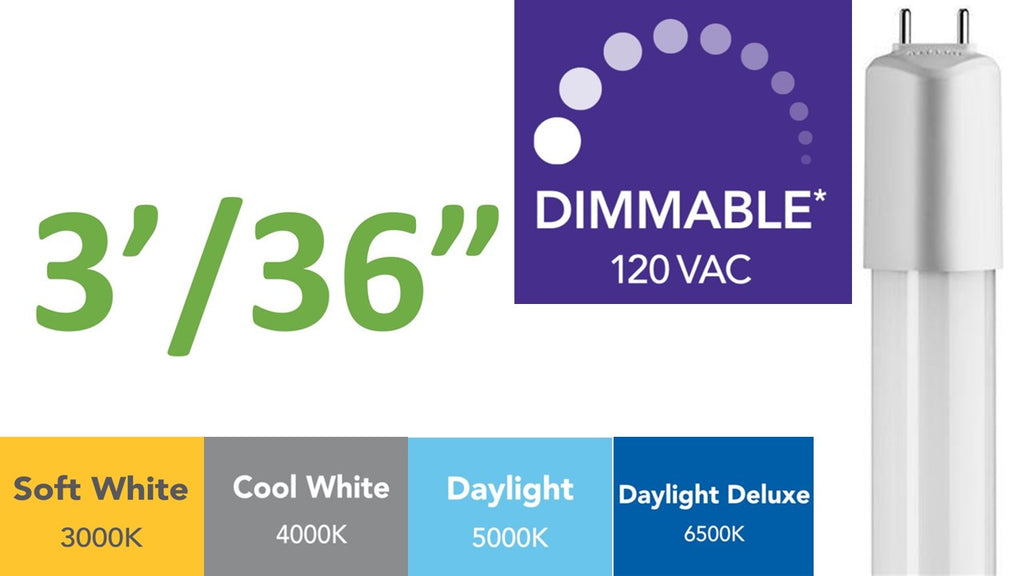 3 ft. (Dimmable) Direct-wire LED Tube(s)