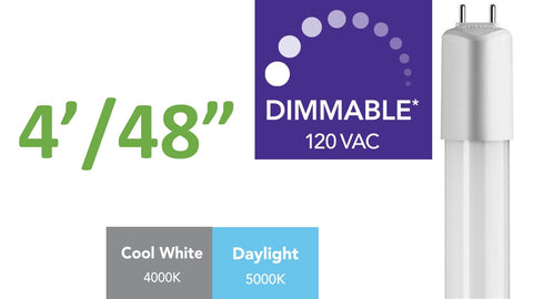 4 ft. (Dimmable) Direct-wire LED Tube