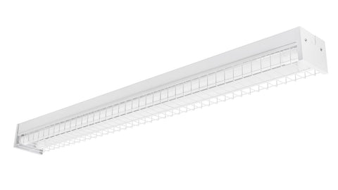 4 ft. LED Surface Mount Fixture with Wire Guard (Two LED Tubes Included)