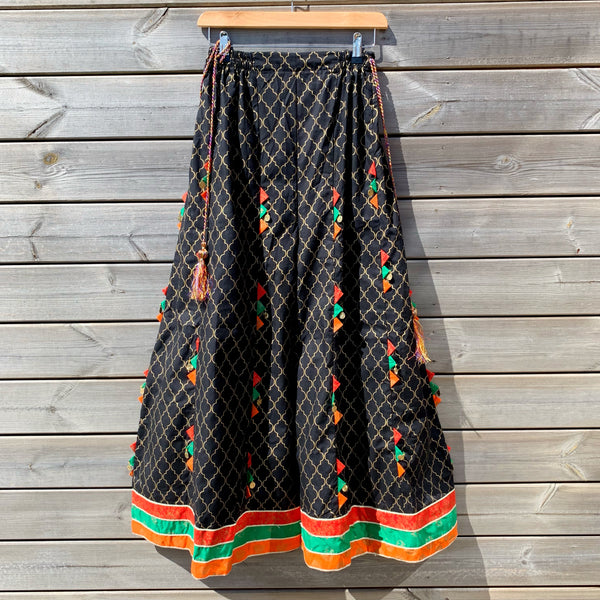 WTL x Ethnic Black Wide Leg Sharara Palazzo Pants - WANT THAT LABEL