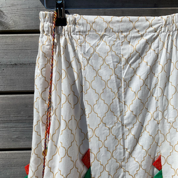 WTL x Ethnic White Wide Leg Sharara Palazzo Pants - WANT THAT LABEL