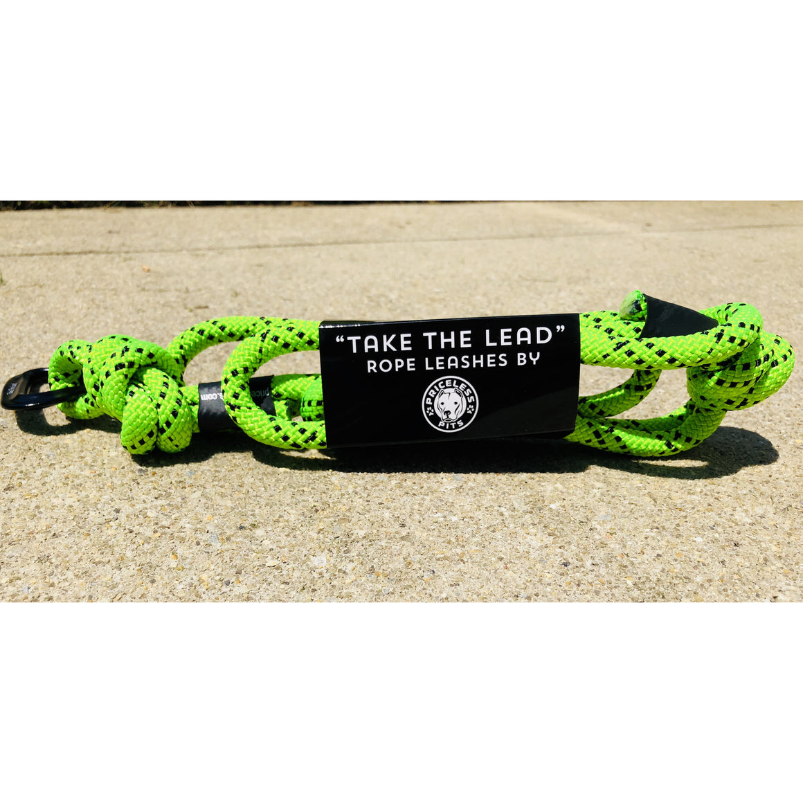 """Bright Lime"" Carabiner Rope Dog Leash"