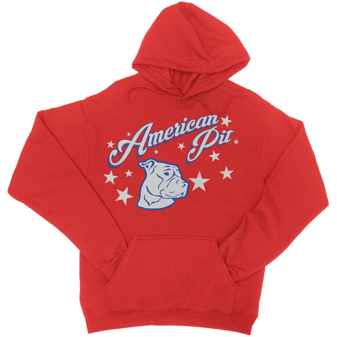 American Pit Red Pitbull Hoodie
