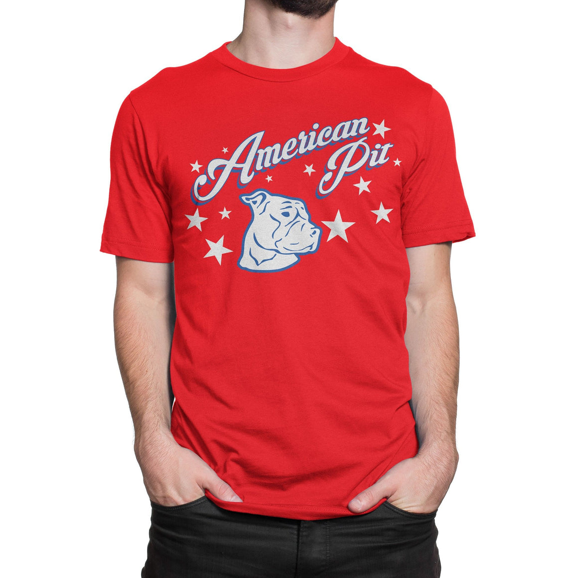 American Pit Red Pitbull Shirt