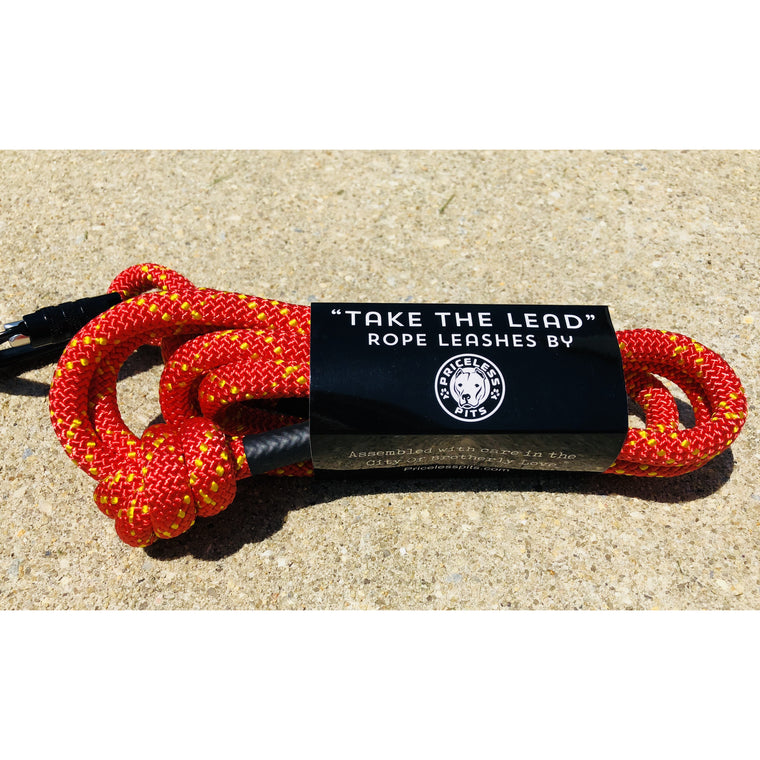 """Fire Engine"" Carabiner Rope Dog Leash"