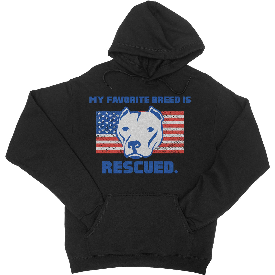 My Favorite Breed Is Rescued Black Pitbull Hoodie