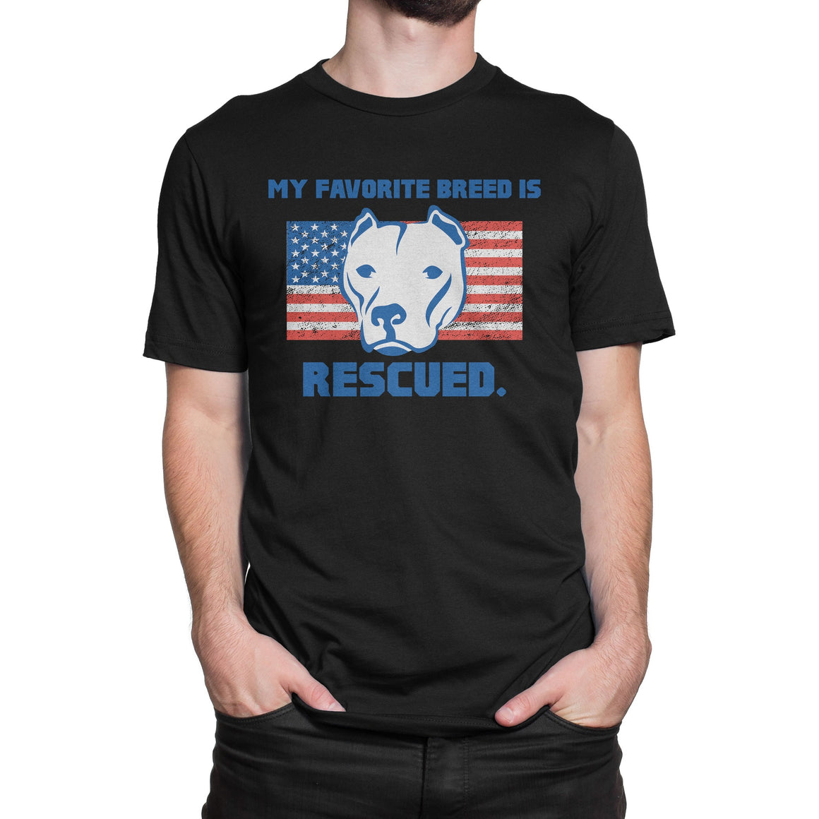 My Favorite Breed Is Rescued Black Pitbull shirt