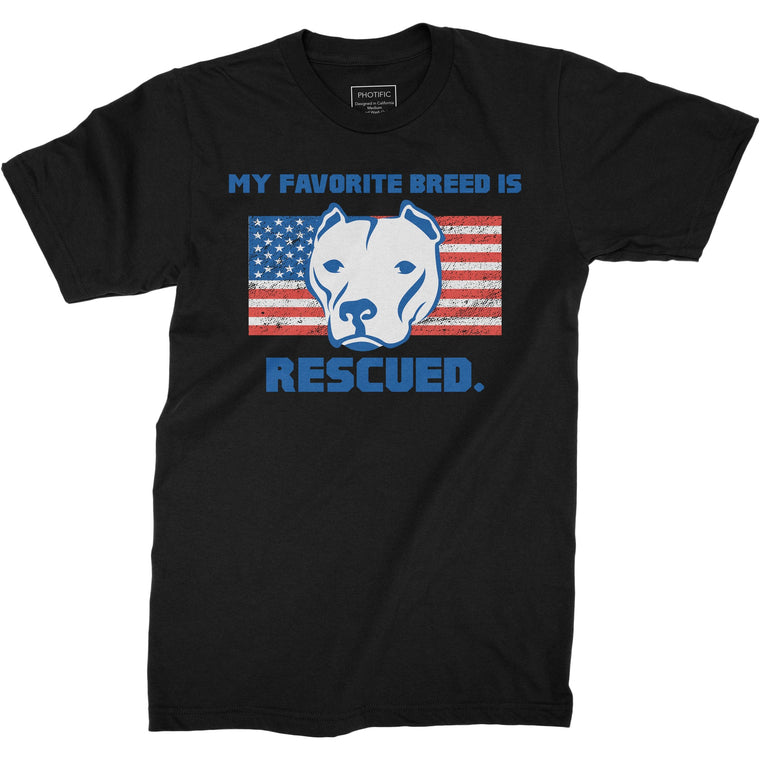 Favorite Breed Is Rescued Black Youth Pitbull Shirt