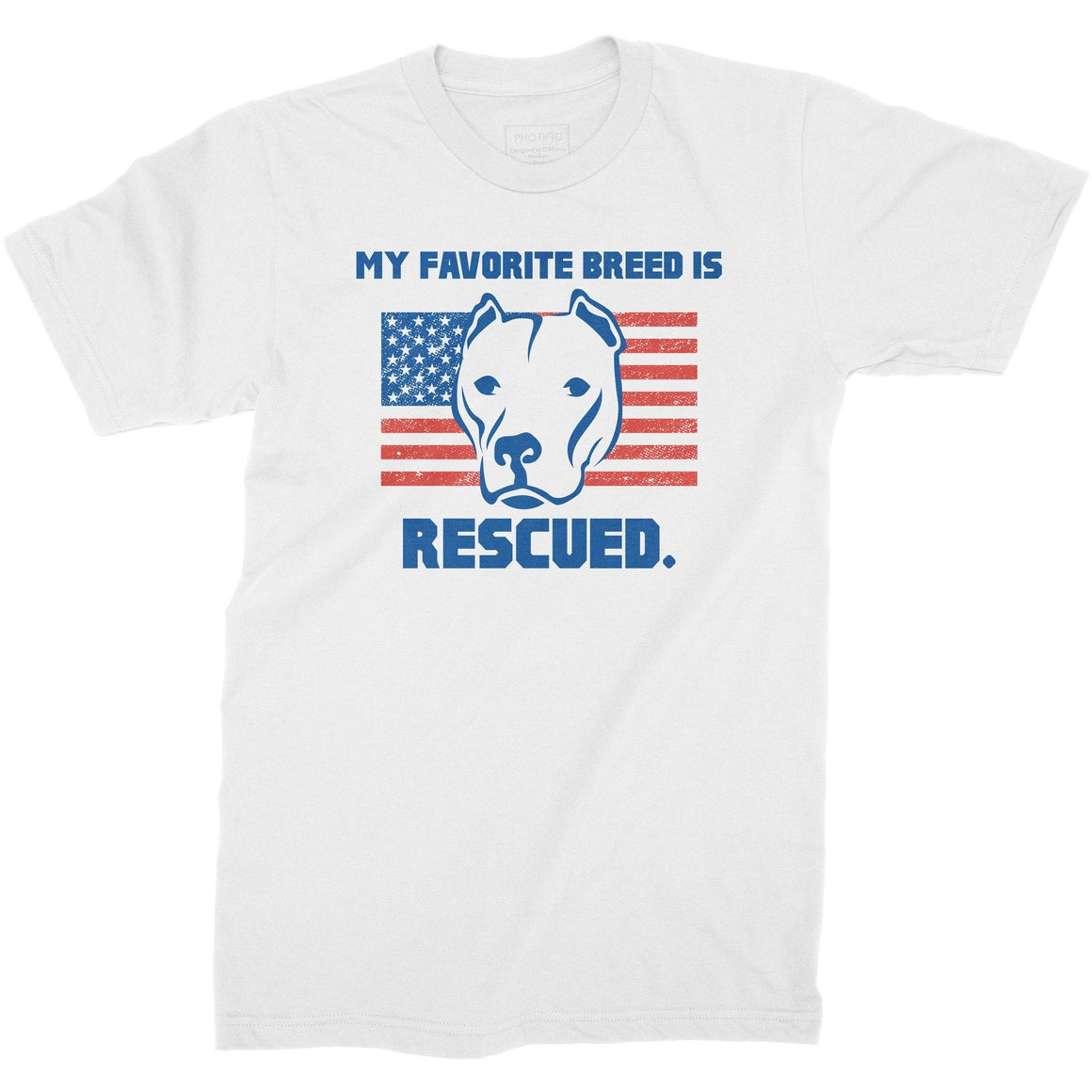 My Favorite Breed Is Rescued White Youth Pitbull Shirt