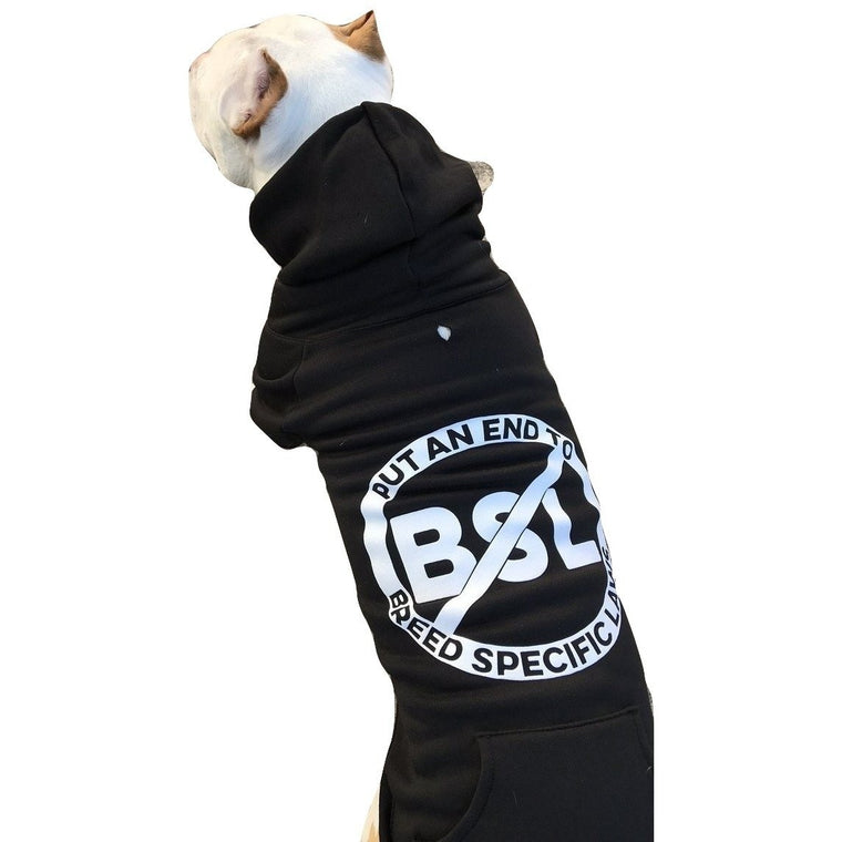 """No BSL"" Black Pitbull Dog Hoodie"