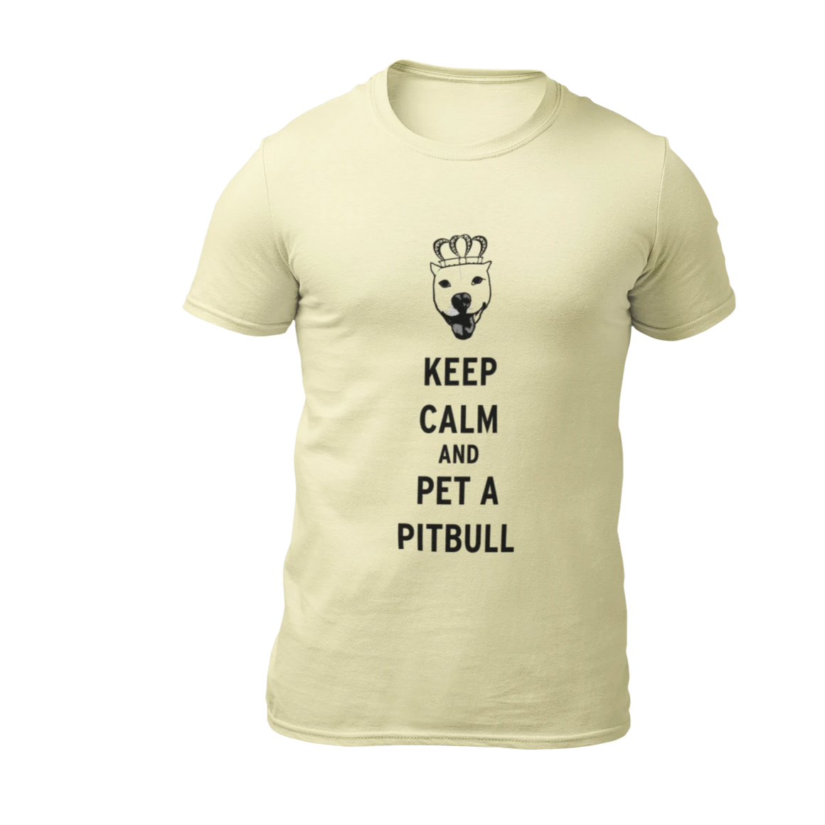 Keep Calm and Pet A Pitbull - Cream