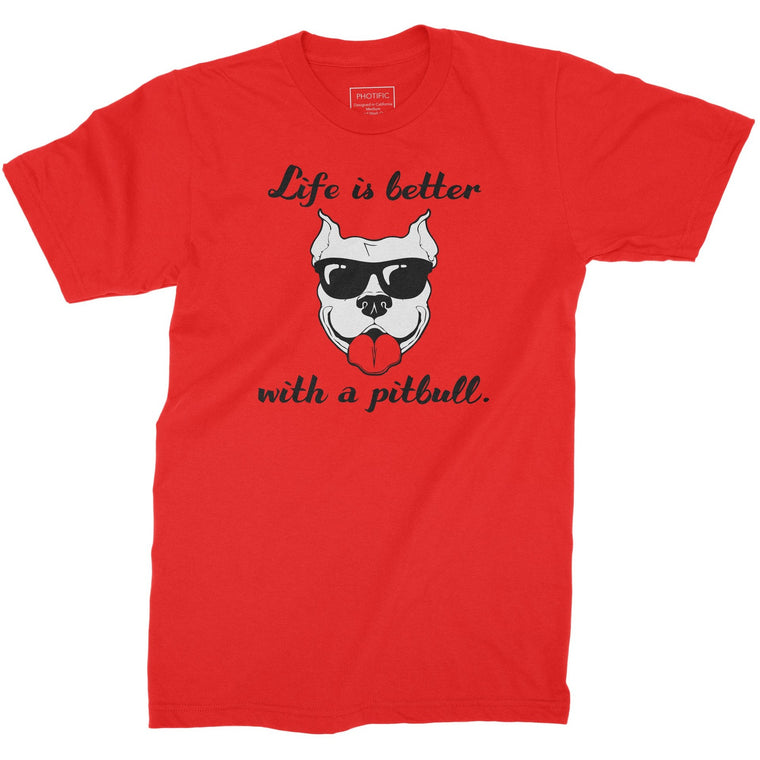 Life Is Better With A Pitbull Red Youth Pitbull Shirt