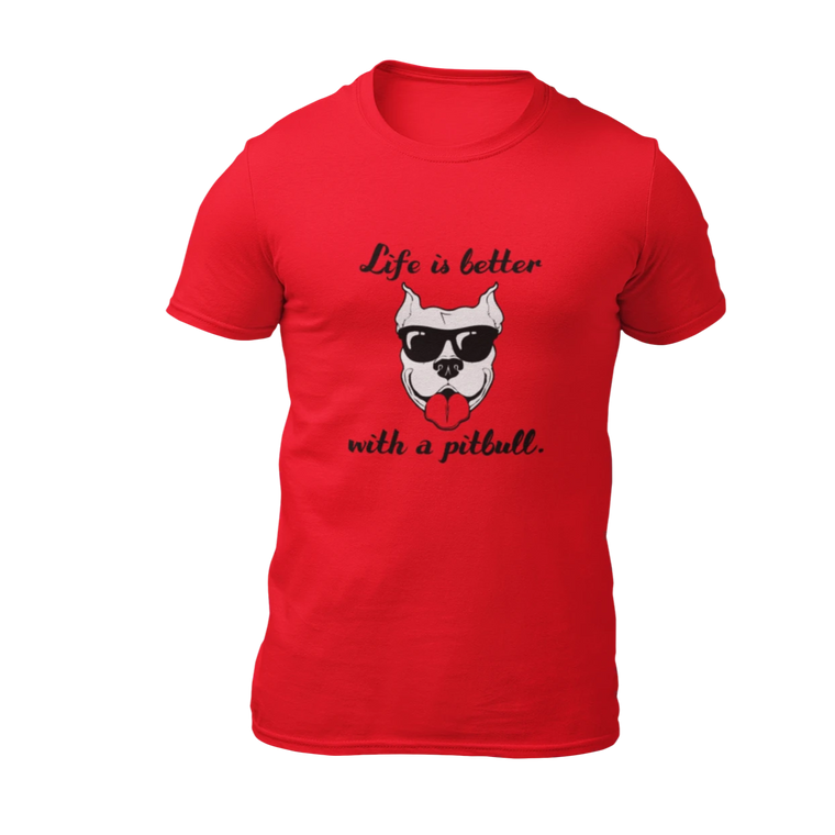 Life Is Better With A Pitbull - Red