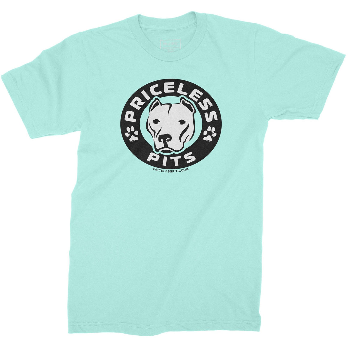 Priceless Pits Logo Light Blue Youth Shirt