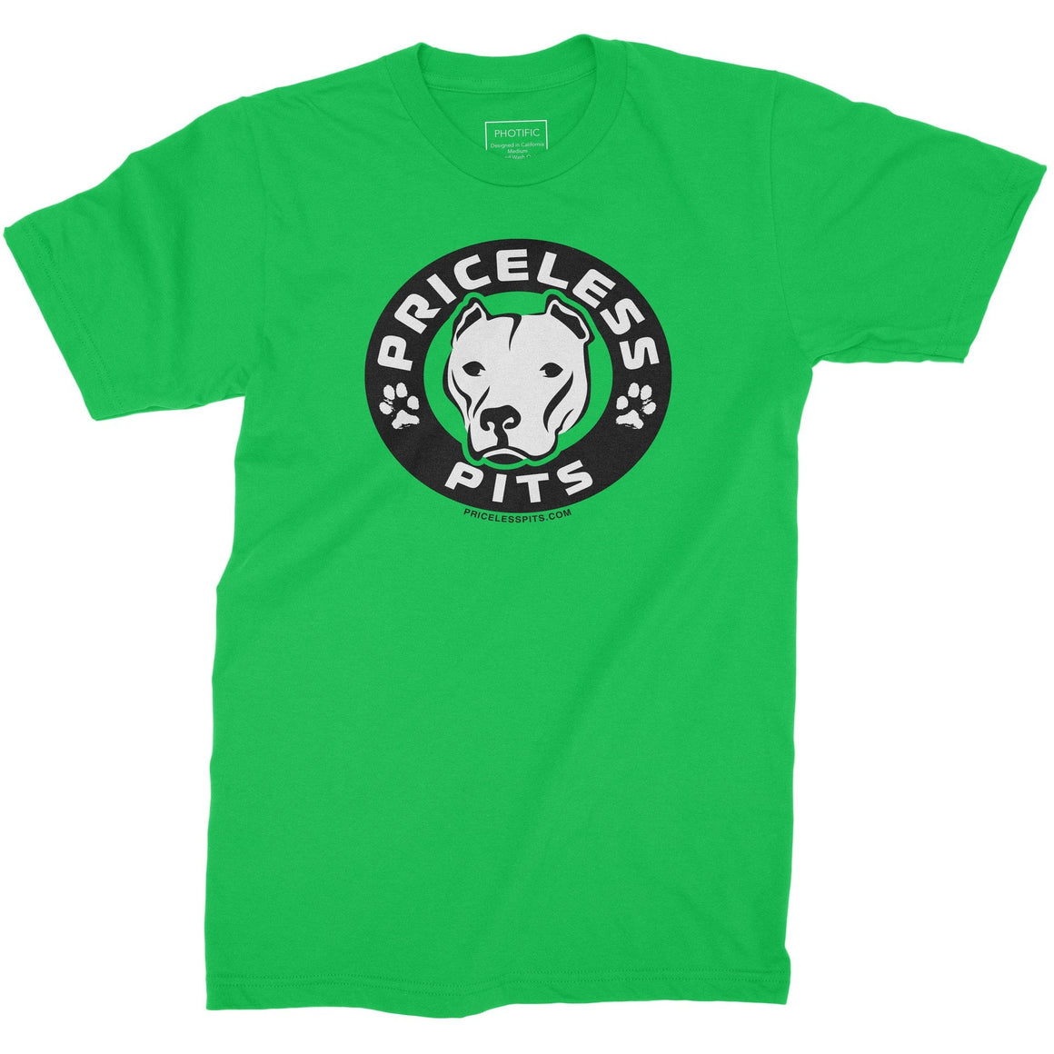 Priceless Pits Logo Kelly Green Youth Pitbull Shirt