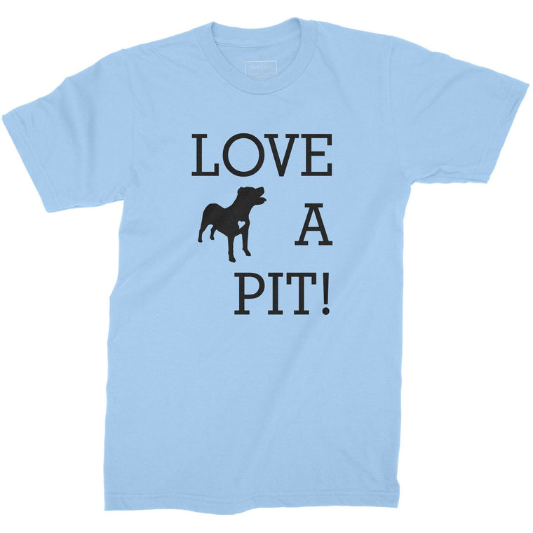 """Love A Pit!"" Light Blue Youth Pitbull T-Shirt Small + ""I Love Pitbulls"" Black Pitbull Hoodie"