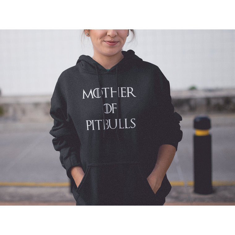 """Mother Of Pitbulls"" Black Pitbull Hoodie"