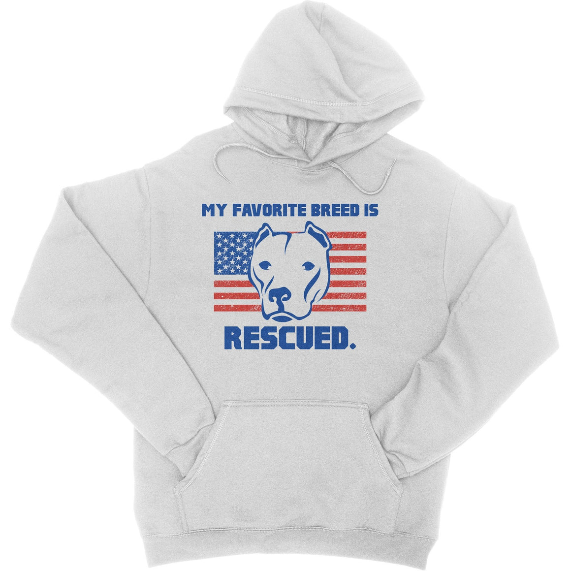My Favorite Breed Is Rescued White Pitbull Hoodie