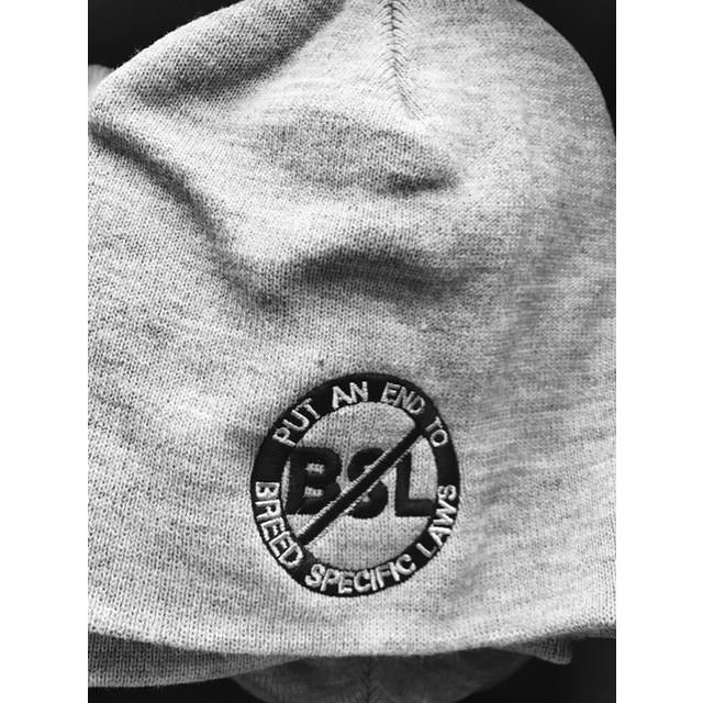 """No BSL"" Ash Gray Pitbull Beanie"