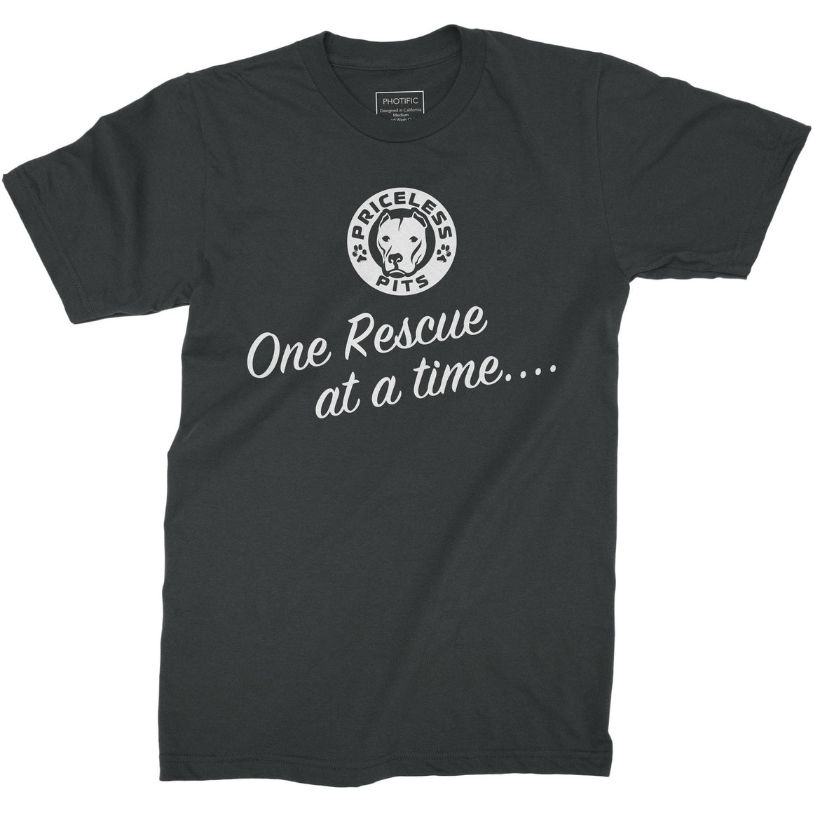 One Rescue At a Time.... Dark Gray Youth Pitbull Shirt