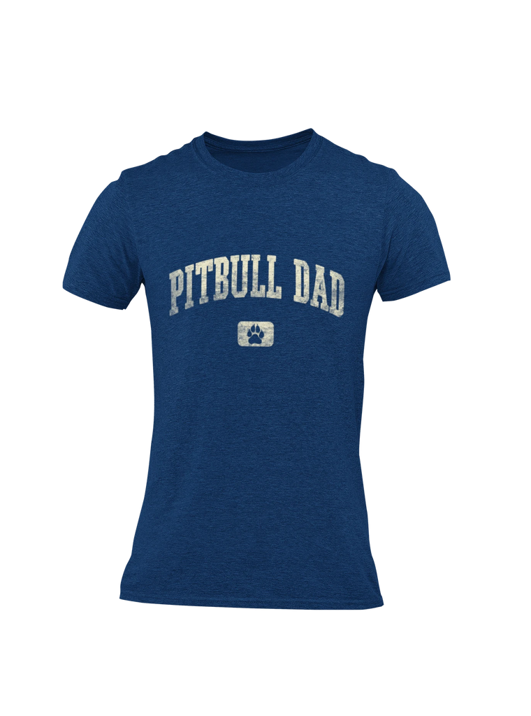 Pitbull Dad - Heather Navy