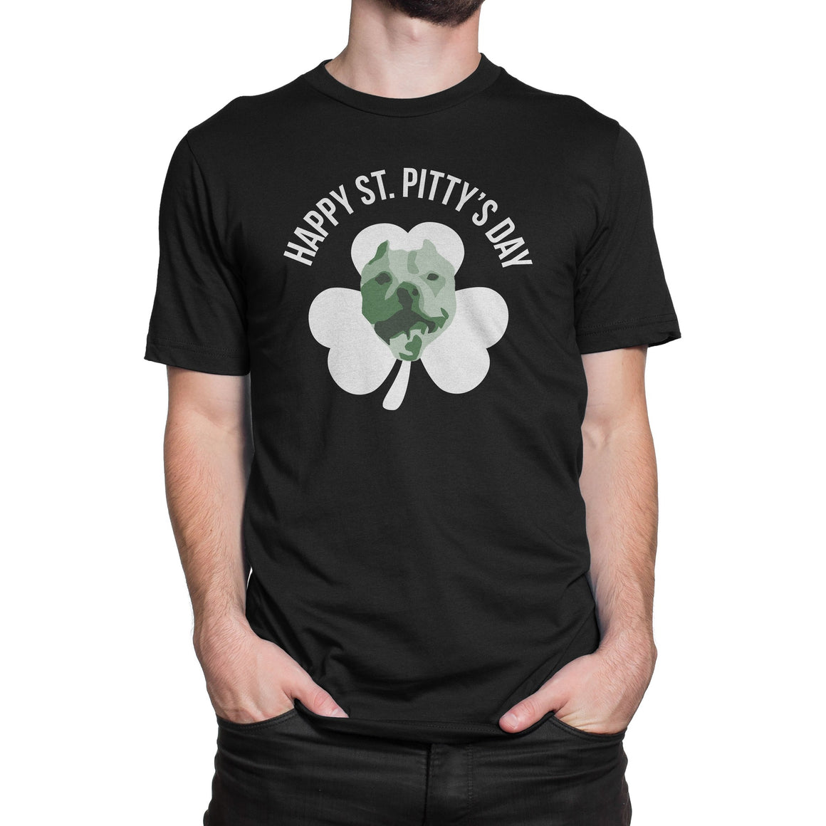 Happy St. Pitty's Day Black Pitbull Shirt