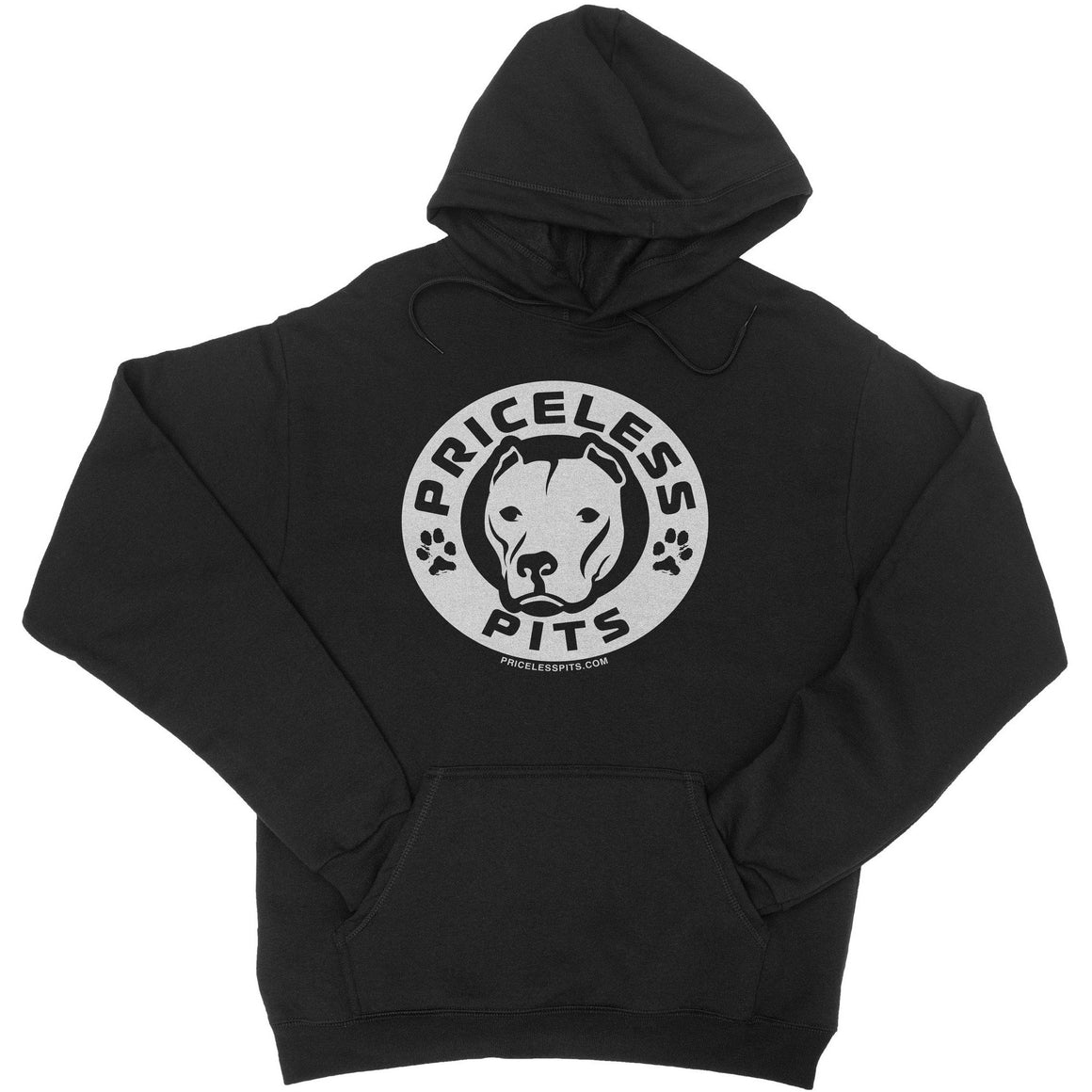 Priceless Pits Logo Black Pitbull Hoodie