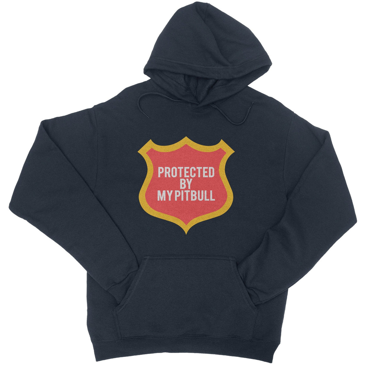 Protected By My Pitbull Navy Pitbull Hoodie