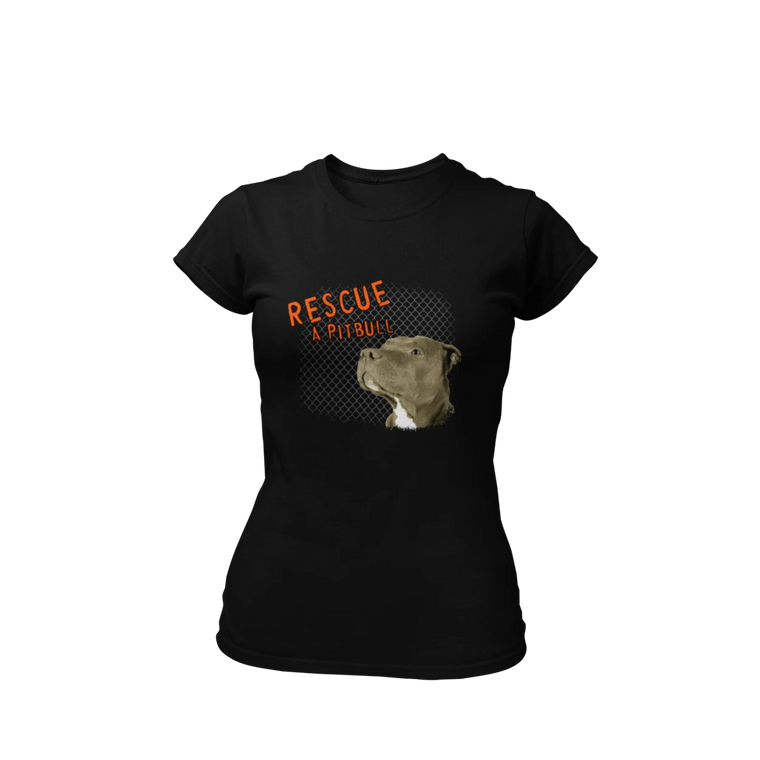 Rescue A Pitbull - Black