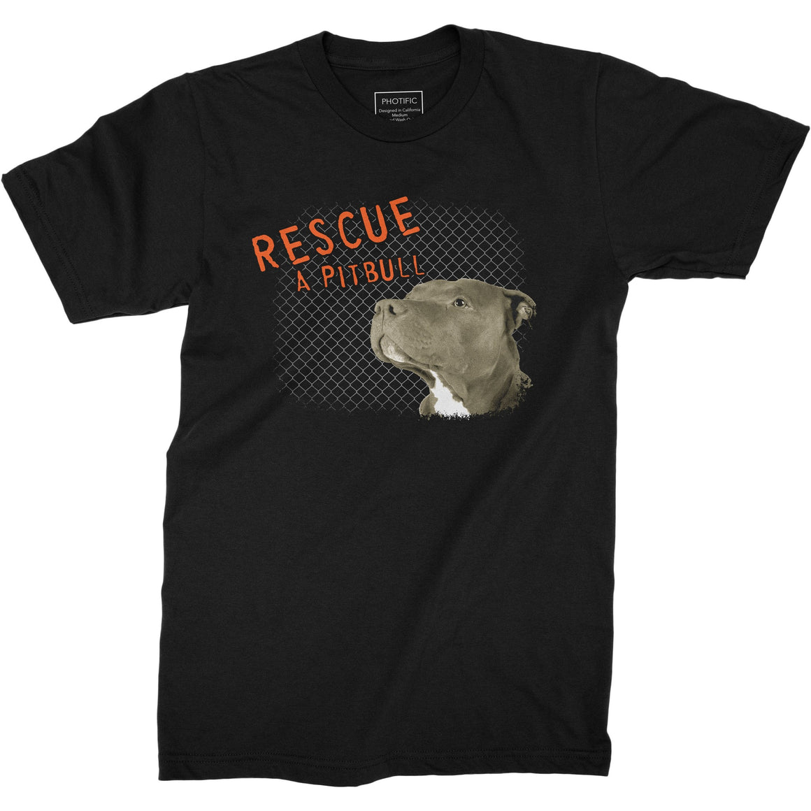 Rescue A Pitbull Black Youth Shirt