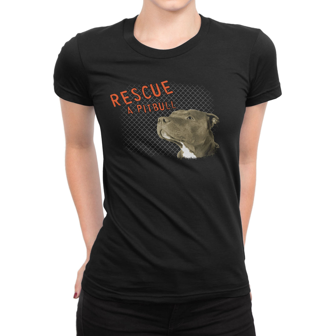 Rescue A Pitbull Black Women's Shirt
