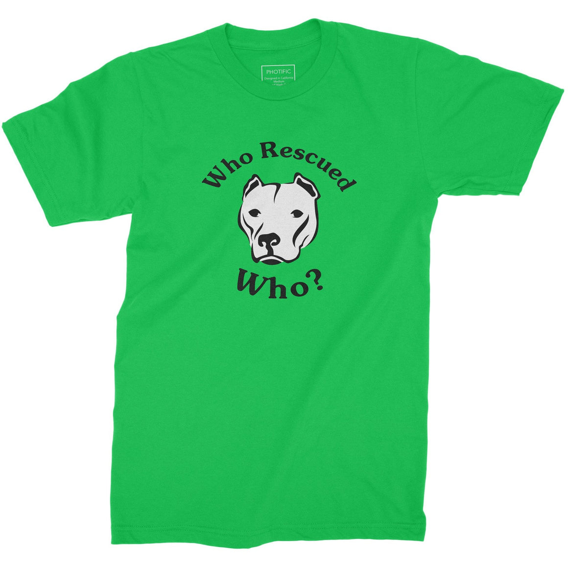 Who Rescued Who? Youth Pitbull Shirt