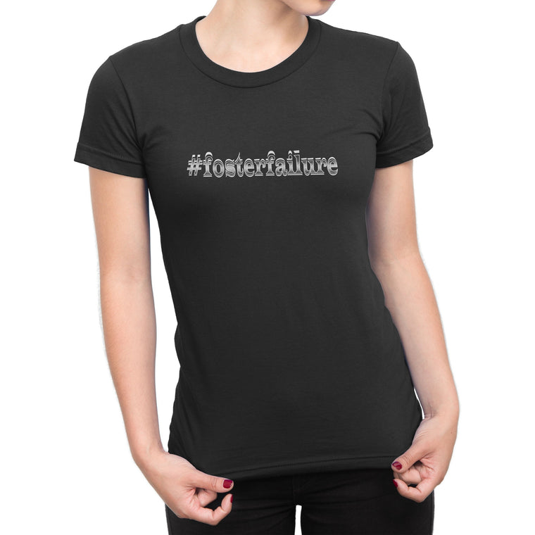 """fosterfailure"" Women's Black Pitbull Shirt"
