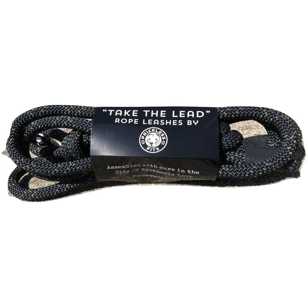 """Onyx"" Carabiner Rope Dog Leash"