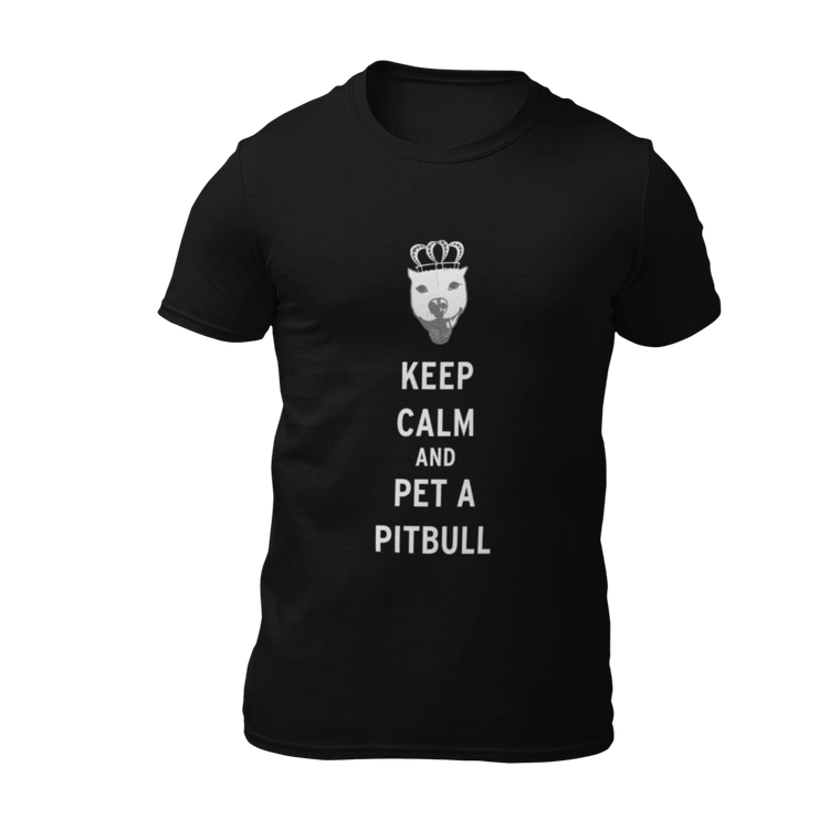Keep Calm and Pet A Pitbull - Black