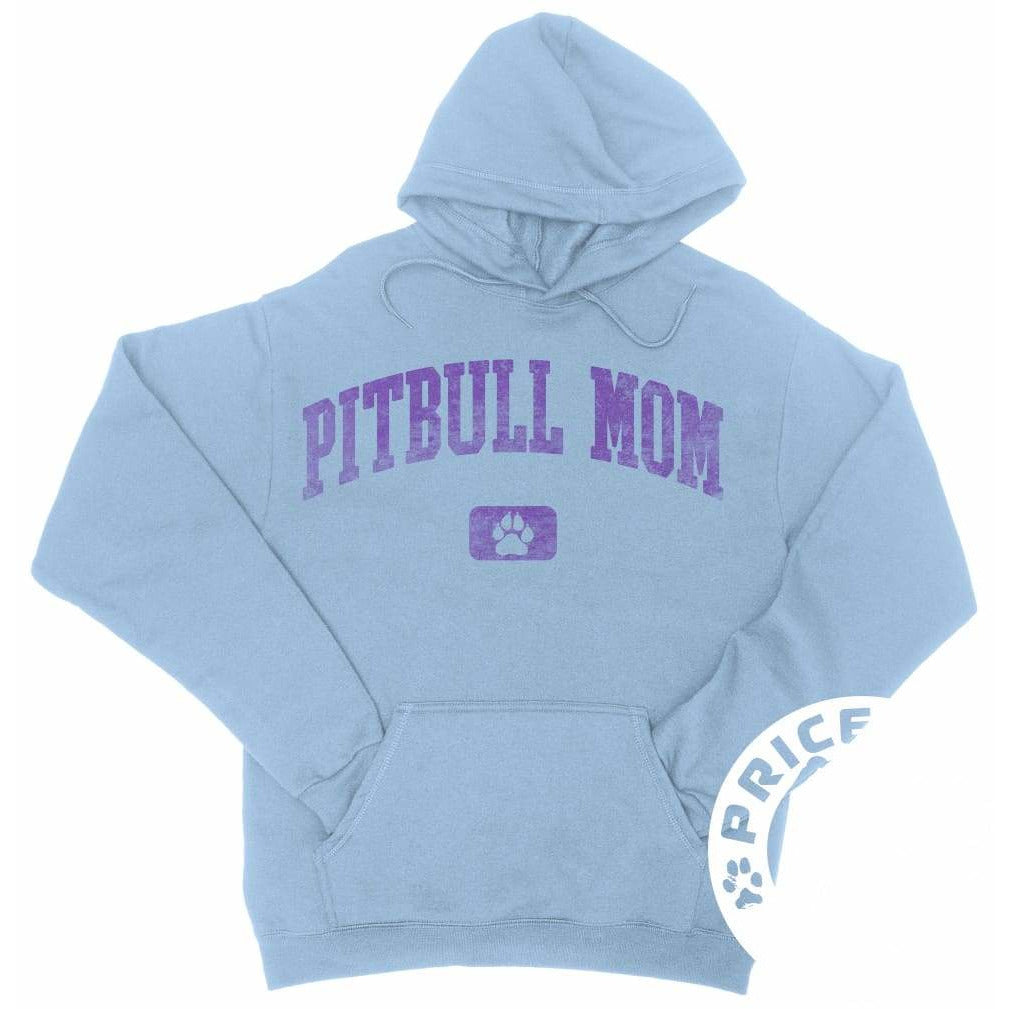 Pitbull Mom Light Blue Hoodie