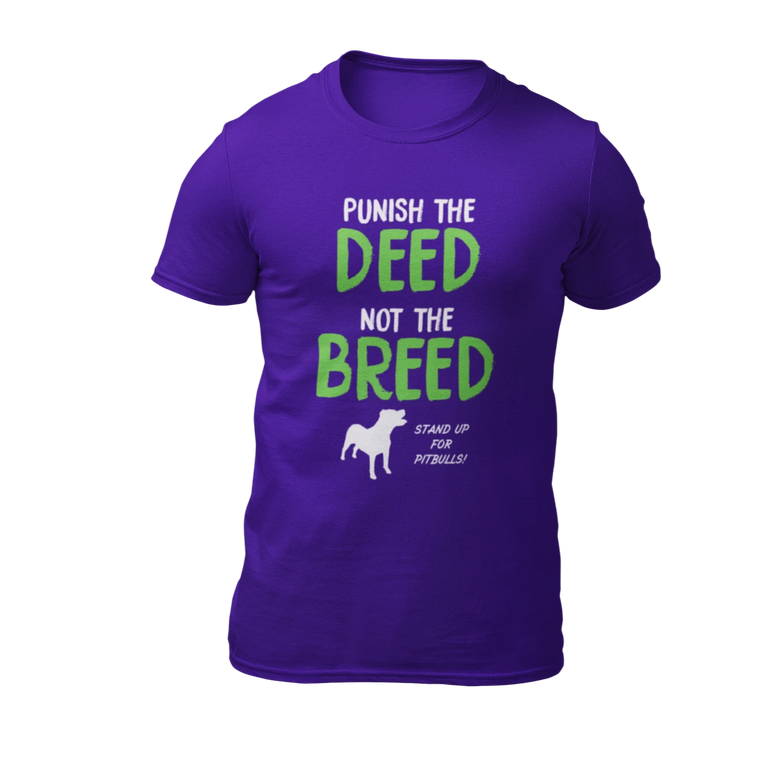 Punish The Deed Not The Breed - Purple