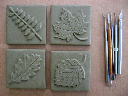 A Mini Video of Sculpting a Handmade Tile