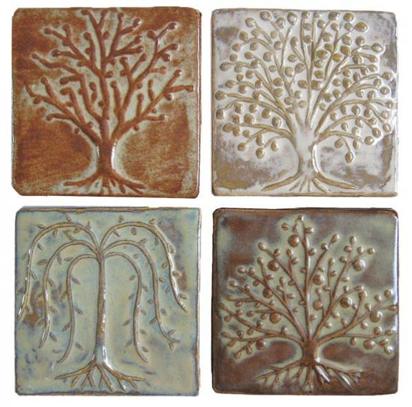 Four Trees, Four Glazes, Four Inches