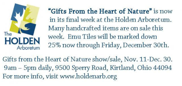 After Christmas Clearance Sales at Ginko Gallery and The Holden Arboretum