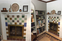 A Multicolored Hearth: Before and After