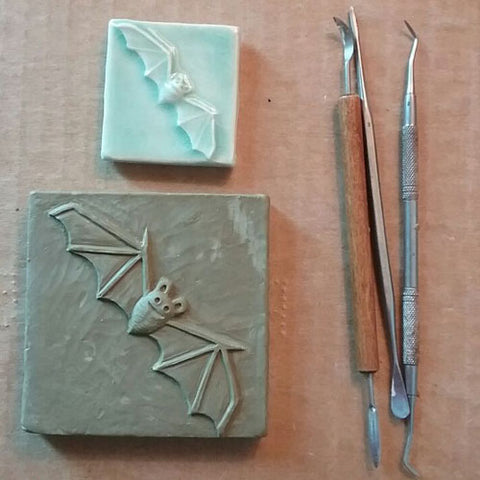 handmade bat tile