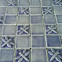 Dragonfly Ceramic Handmade Tiles with Field Tiles
