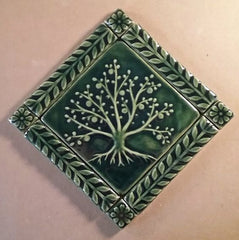 Tree of Life Handmade Tile