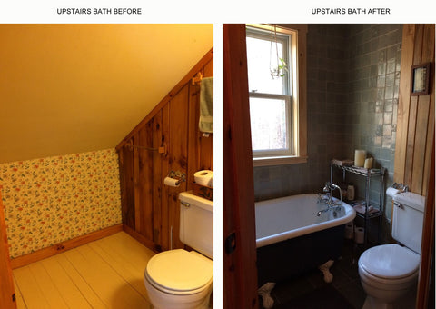 handmade tile bathroom before and after photos