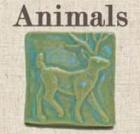 Animal Handmade Art Tiles